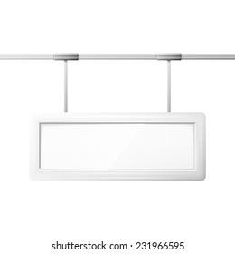 Blank billboard screen, isolated on white