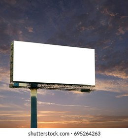 blank billboard with sky and clouds background