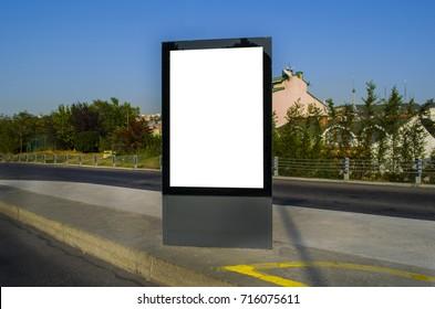 Blank Billboard in traffic