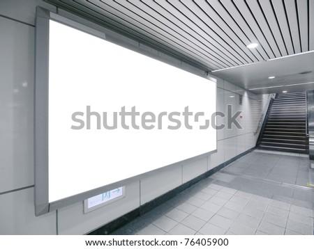 Blank Billboard Underground Passage Stock Photo (Edit Now