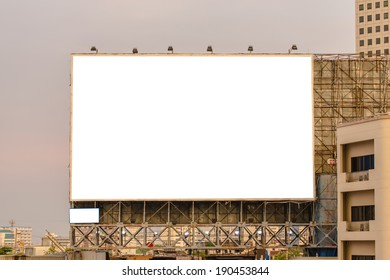 Blank billboard useful for your advertisement.