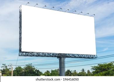 Blank billboard. Useful for your advertisement.