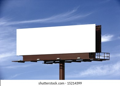 A blank Billboard for you to add your text or image to