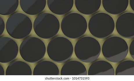 Blank black badge on yellow background. Pin button mockup. 3D rendering illustration