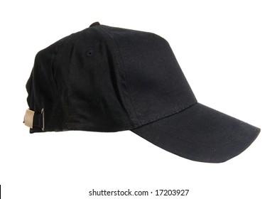 Blank black Baseball Cap on white ground
