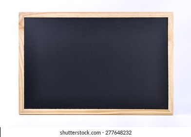 A Blank Black Board On White Background