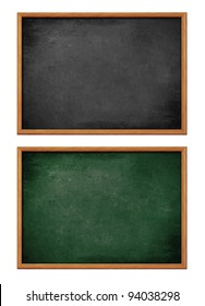 blank black board with wooden frame