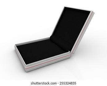 blank black boxes isolated on white background