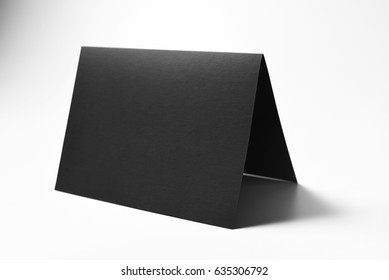 Blank black card
