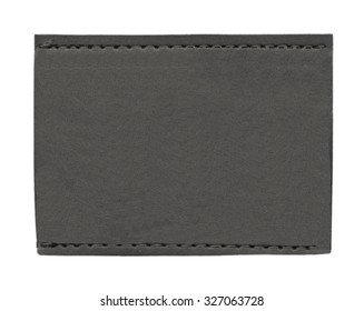 blank black jeans  label on white background