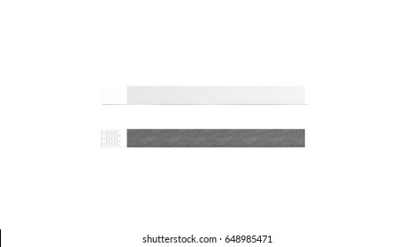 blank black and white paper wristband mock up 3d rendering empty event wrist band