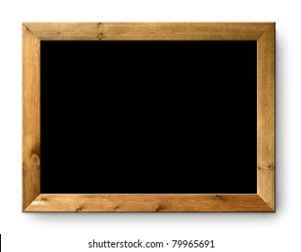 blank blackboard copyspace with wood frame [Photo Illustration]