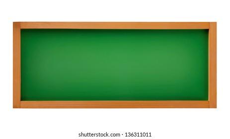 blank blackboard green on white