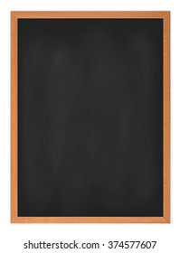 Blank  blackboard wooden frame isolated