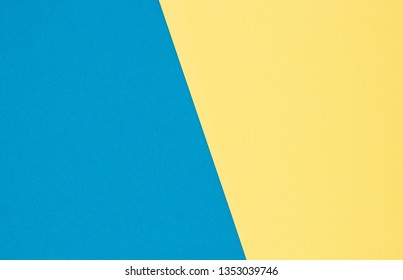 Blank blue and yellow drawing paper for background.