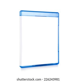 Blank Blu-ray Box Isolated on white with clipping path