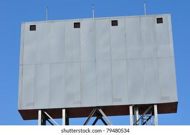 a blank board
