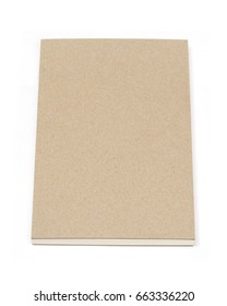 Blank book cover isolated object on white background with clipping path. Close up.
