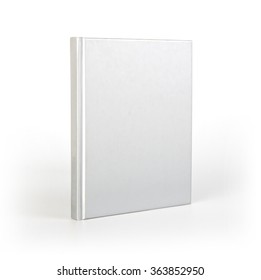 Blank book cover over white background with shadow