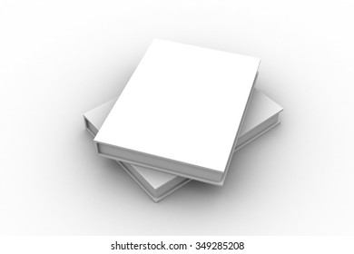 Blank book cover template with pages on white surface / Text Book