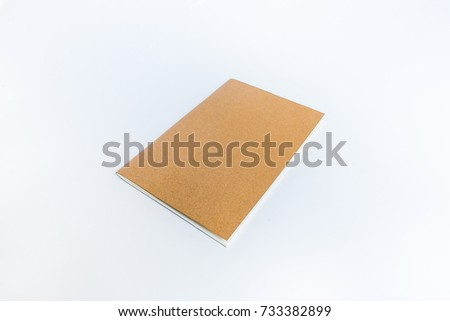 blank book mock template recycle paper stock photo edit now