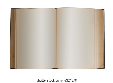 Blank Book - photo of a book edited for blank pages.