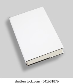Blank book white cover with clipping path