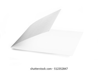 Blank booklet isolated on white background. With clipping path