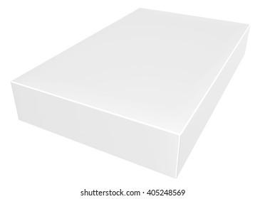 "Blank box on white background ""3d illustration"" ""3d rendering"""