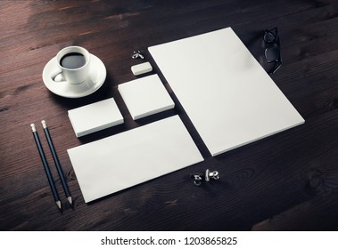 Blank branding identity set on gray background. Corporate stationery template. For design presentations and portfolios.
