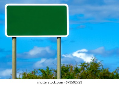 Blank British Motorway Road Sign