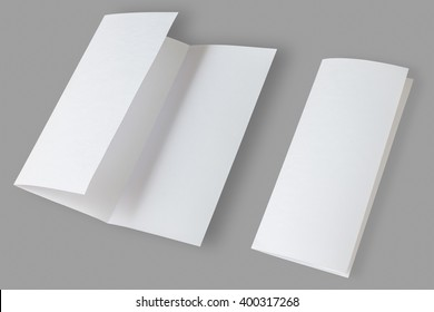 Blank Brochure isolated on grey background