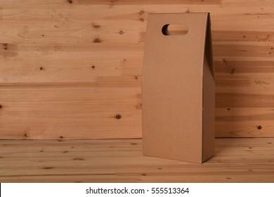 blank browm paper bag