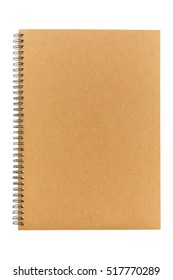 blank brown book cover isolated on white background