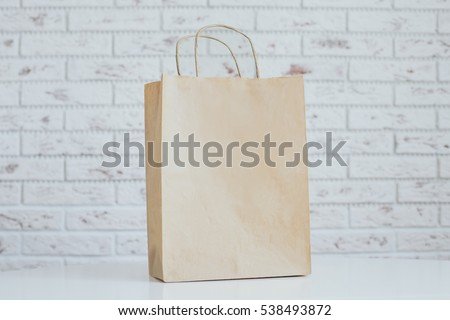 Blank Brown Craft Paper Bag Design Stock Photo Edit Now 538493872
