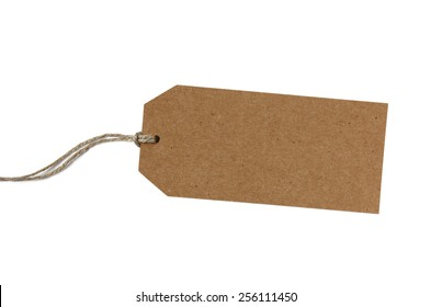 Blank brown paper gift tag