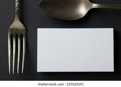 blank business card or invitation