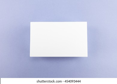 Blank business card, postcard with soft shadows.