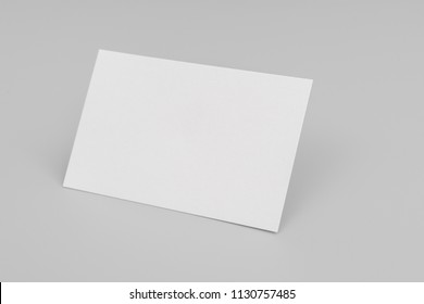 Blank business card with soft shadows.