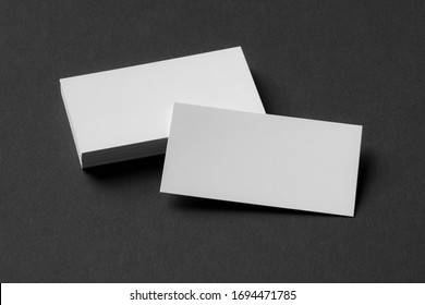blank business cards, brand identity mockup, black and white stationery