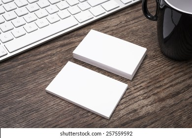 Blank business cards mockup
