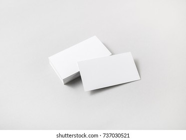 Blank business cards on paper background. Template for placing your design.
