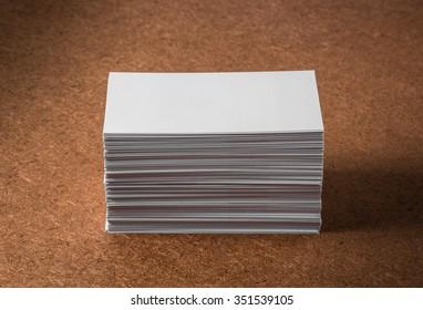 Blank Business cards, Studio shot