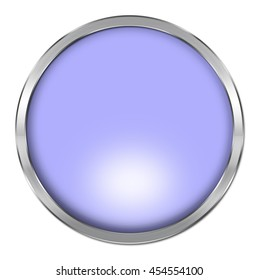Blank button isolated on white background. One of a set of 40 glossy colorful empty buttons. 3d render
