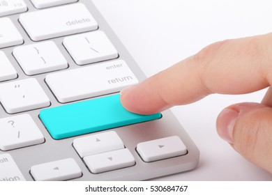 Blank button. Write your message on computer keyboard.