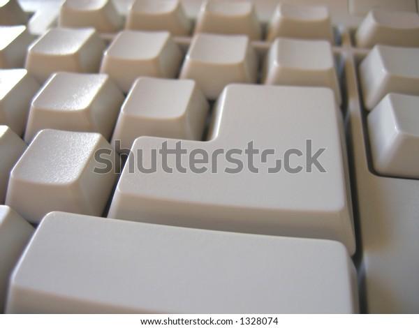 Blank buttons keyboard.