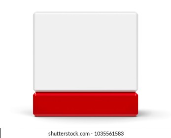 Blank calendar icon from cubes - on a white table, three-dimensional rendering, 3D illustration