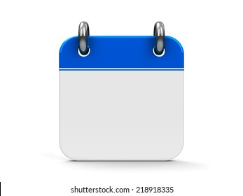 Blank calendar icon, three-dimensional rendering