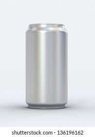 Blank can 3d render. Ideal for beer, cola, energy drink.