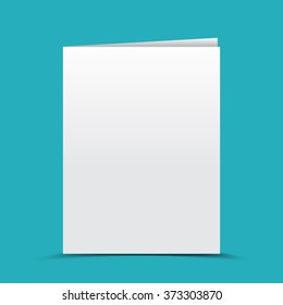Blank card, brochure, template for your design